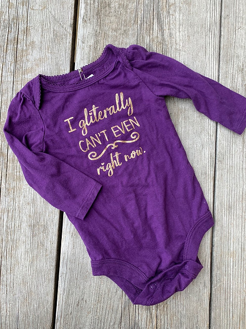 Size 3-6m GEORGE Purple and Gold Onesie
