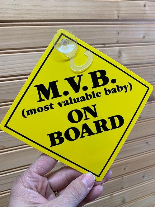 MVB Car Window Message