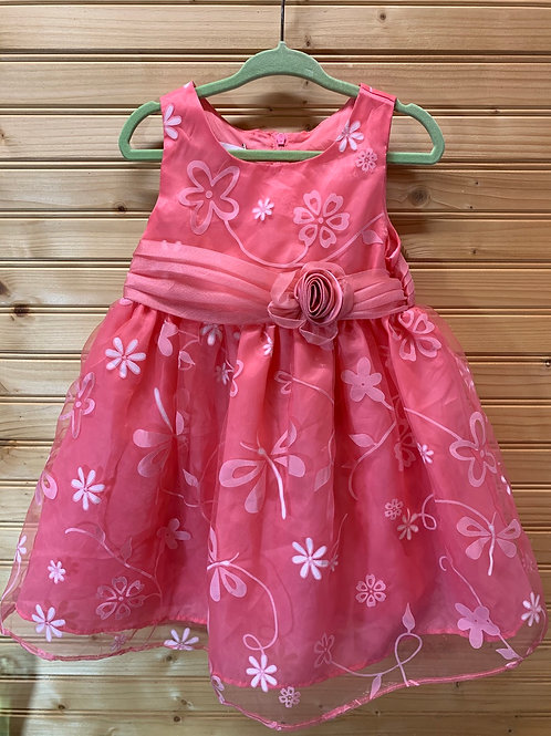 Size 2T JESSICA ANN Coral Dress, Used