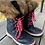 Size 1 Youth JOE FRESH Blue Fur Boots