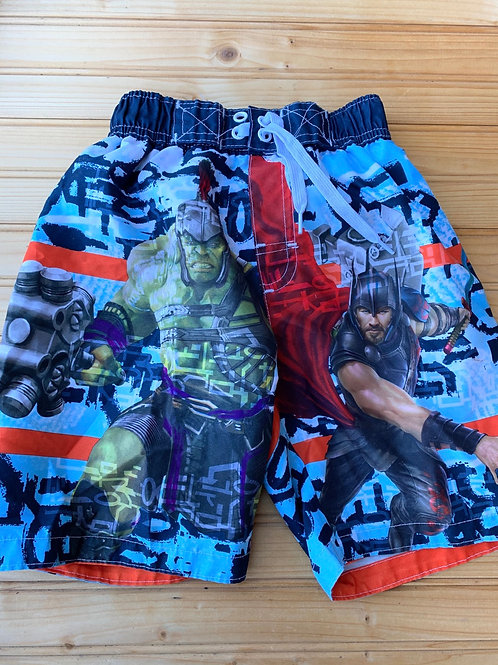 Size 5/6 MARVEL Thor and Thanos Swim Trunks