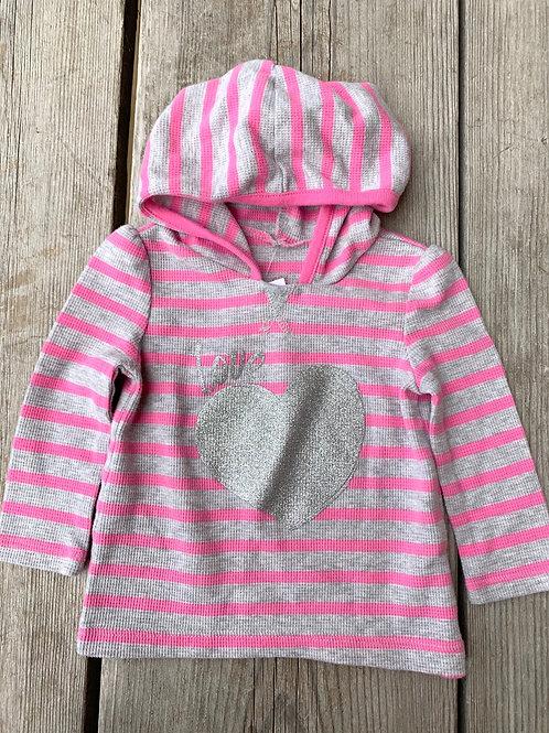 Size 9-12m CHILDREN'S PLACE Silver Heart Shirt