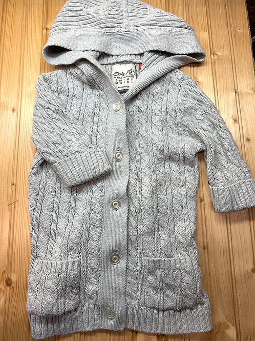 Size XS (5T?) ESPIRIT Grey Cable Knit Cardigan