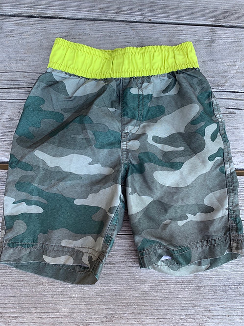 Size 4 CHILDREN'S PLACE Camo Swim Trunks, Used