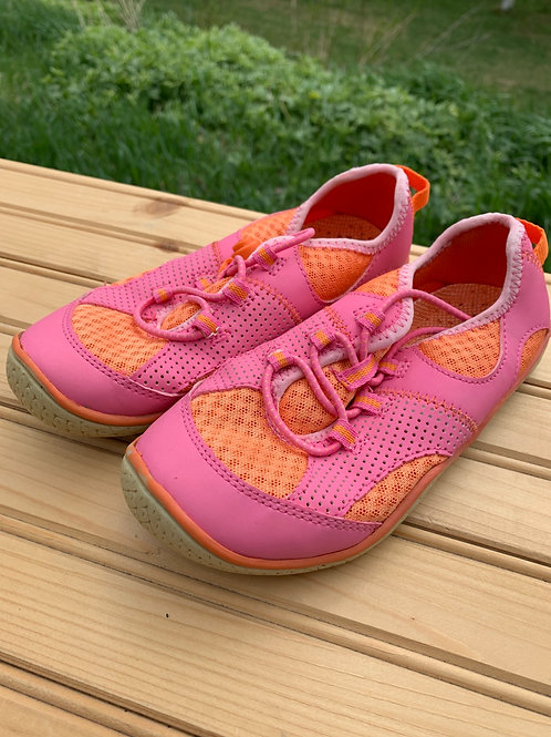 Size 13 Kids LANDS' END Pink and Orange Water Shoes