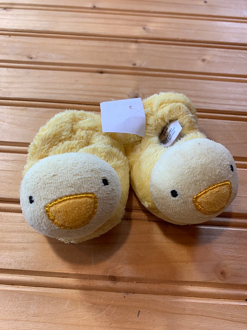 Size 1-2 Baby Yellow Duck Slippers
