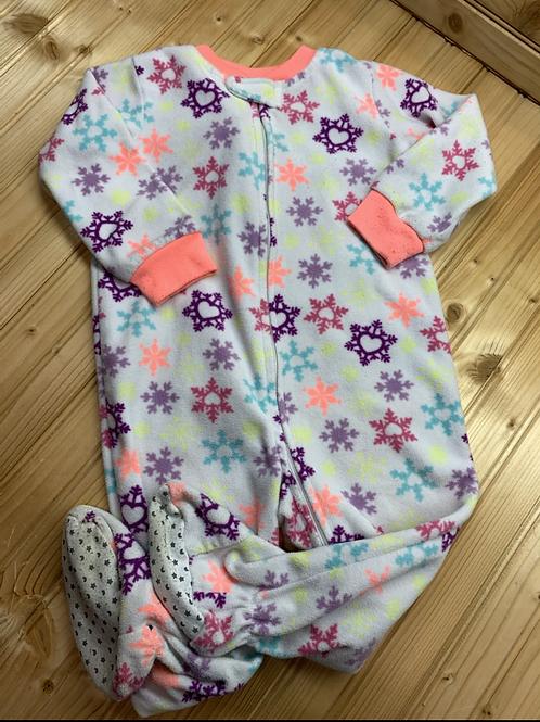 Size 18m WONDER KIDS Snowflakes Fleece Footie PJ