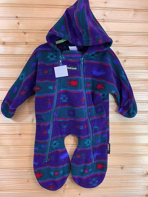 Size 0-3m CHUCK ROAST Purple Fleece Bunting, Used