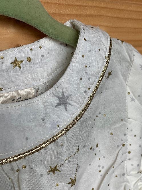 Size 18m OSHKOSH White Long-Sleeve with Stars, Used