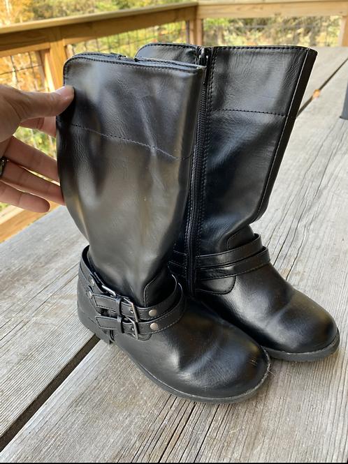 Size 12 Lil Kids FADED GLORY Black Boots