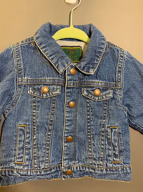 Size 6-12m BABY GAP Classic Button Snap Jean Jacket