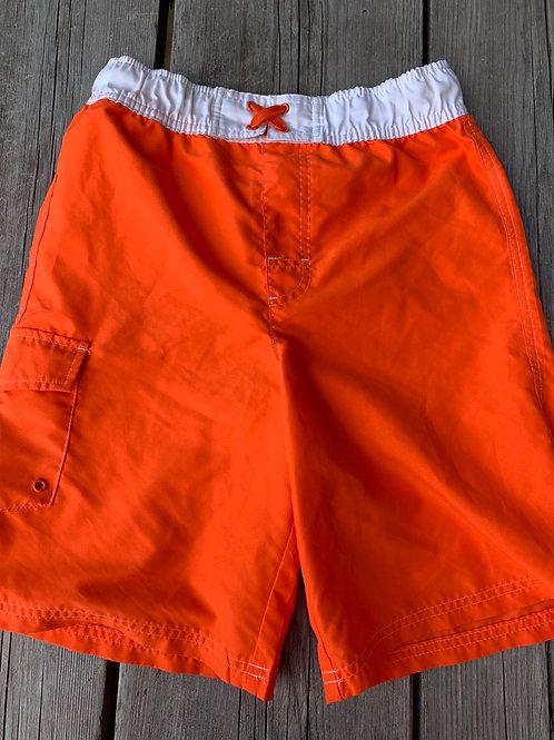 Size 10/12 Kids Orange Swim Trunks