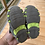 Size 5 Little Kids Grey and Green Sandals bottom