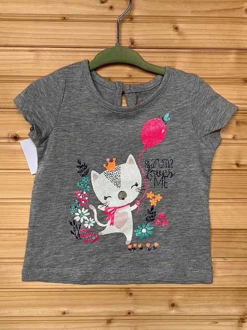 18m WONDERKIDS Glitter Grandma Kitty Shirt, Used, Full View