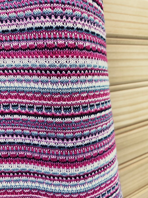 Size XL RED CAMEL Pink Striped Maxi Skirt, Used