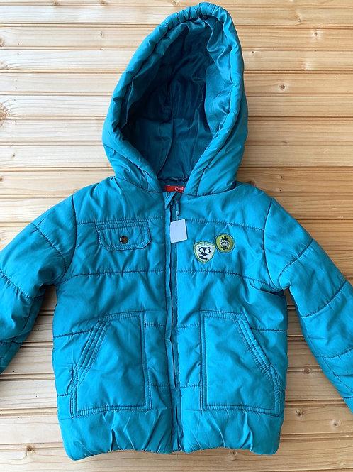 Size 2 OKAOU Teal Blue Winter Jacket