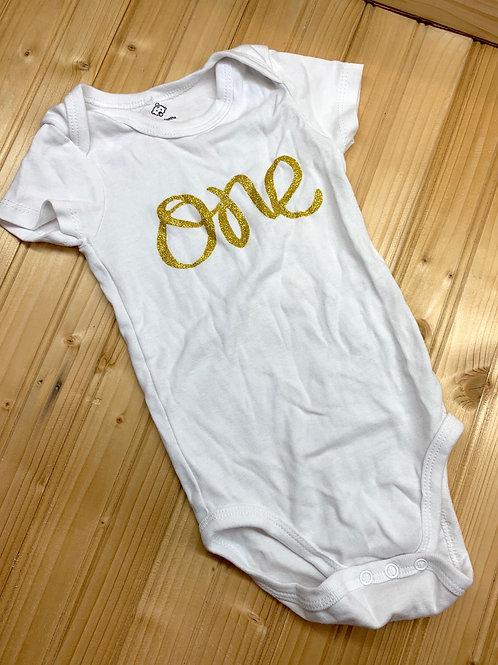 Size 12m Gold One Onesie