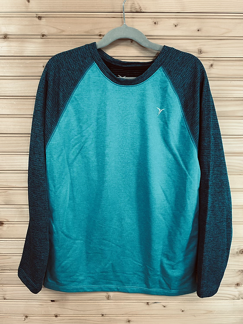 Size 10/12 OLD NAVY Teal Longsleeve Sport Shirt, Used