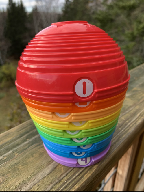 Rainbow Stacker Cups with Numbers