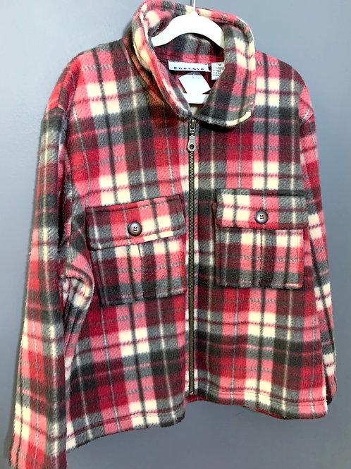 Size M ENERGIE Pink Plaid Fleece Jacket