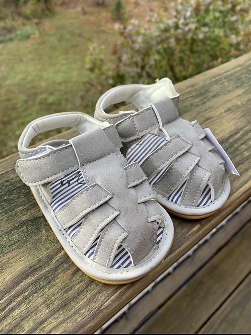 Size 2 Infant Grey Suede Sandals