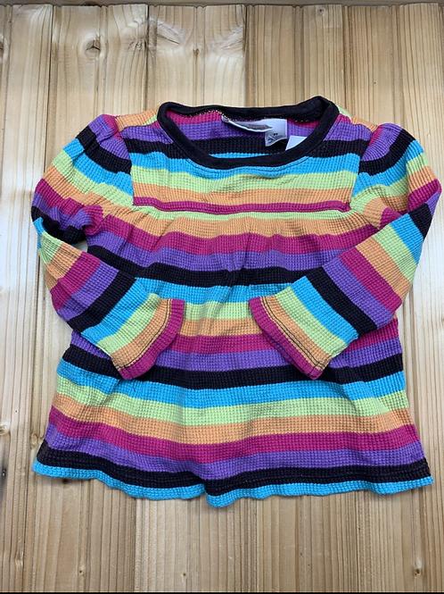 Size 2T Rainbow Stripe Shirt