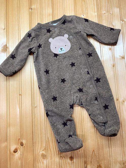 Size 0-3m CARTER'S Brown Bear Fleece PJ