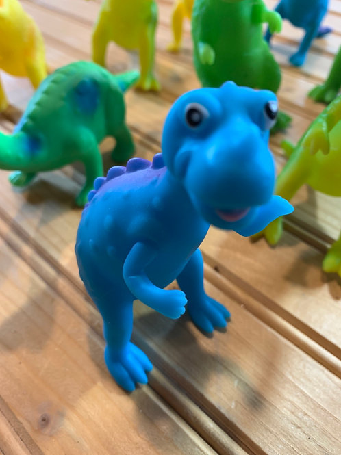 Rubber dinosaur blue