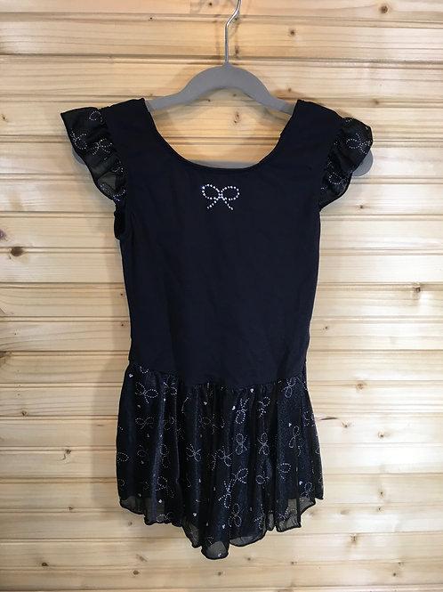 Size 12/14 Girls JAQUES MORET Black Dance Leotard Dress
