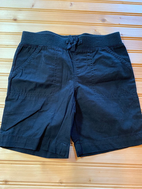 Size 6/6x FADED GLORY Black Cotton Shorts, Used
