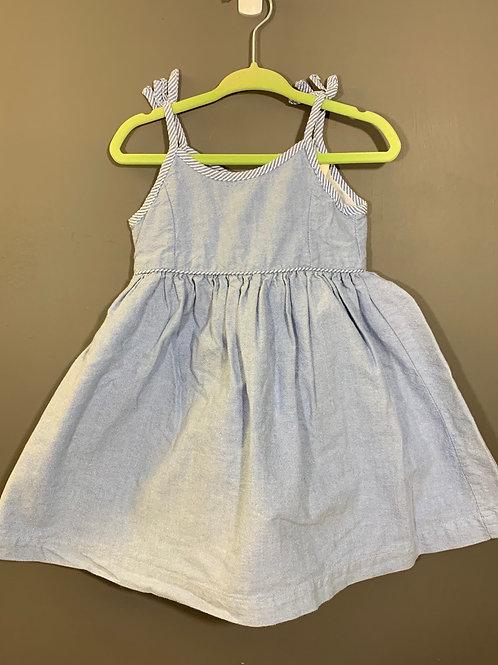 Size 12m JOE FRESH Pale Blue Layered Dress, Used