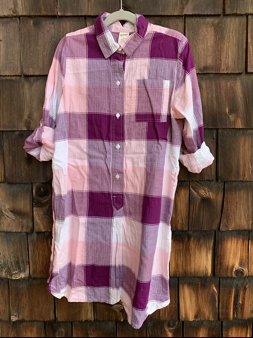 Size 12 Girls Plaid Shirt Dress