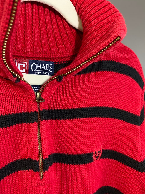 Size 14/16 Youth CHAPS Red and Black Knit Sweater