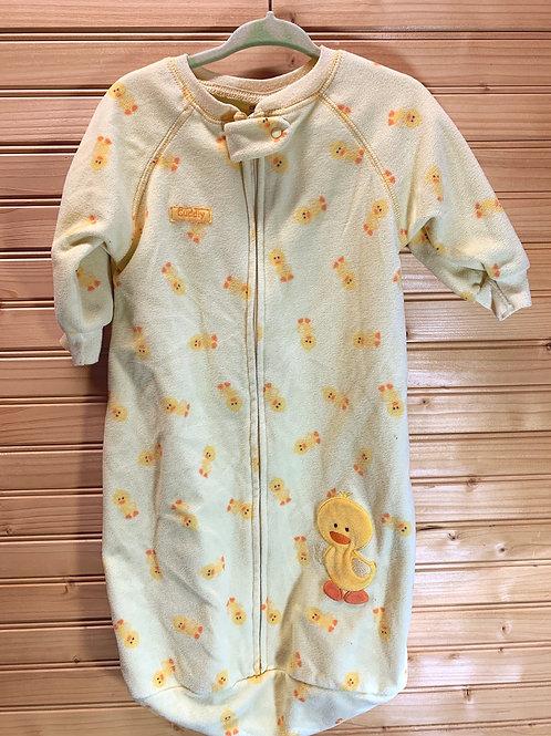Size 0-9m Yellow Duck Fleece Sleep Sack