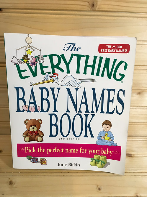 THE EVERYTHING BABY NAMES BOOK front