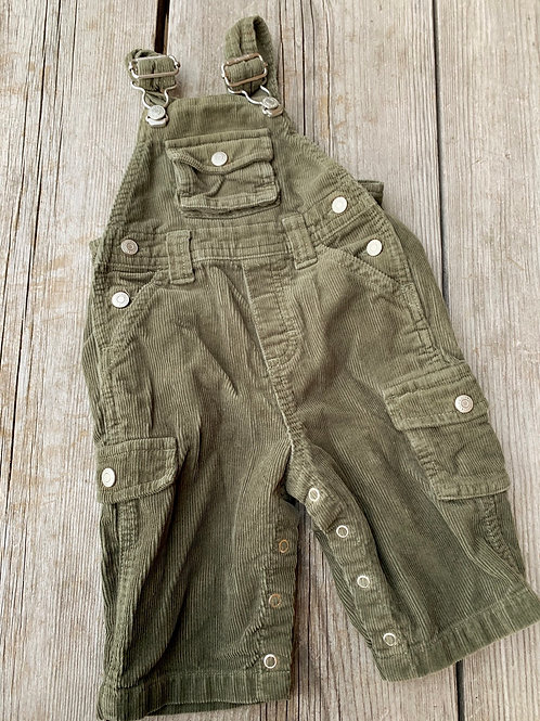 Size 3-6m OLD NAVY Green Corduroy Overalls