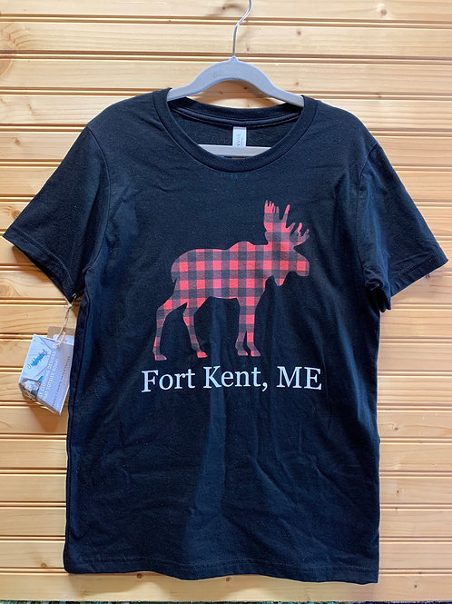 Size Youth Large NEW CUSTOM MADE Fort Kent Maine Shirt