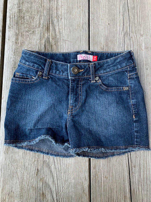 Size 8 Girls SO Jean Cut Off Shorts, Used