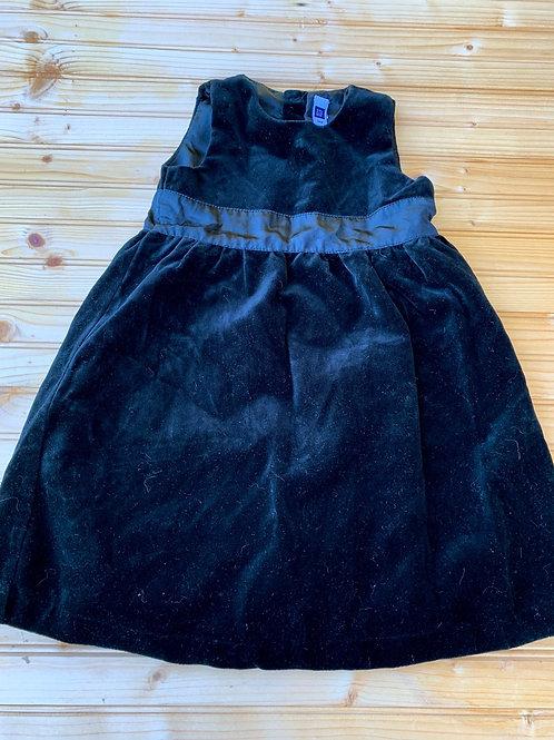 Size 3T Black Velvet Dress