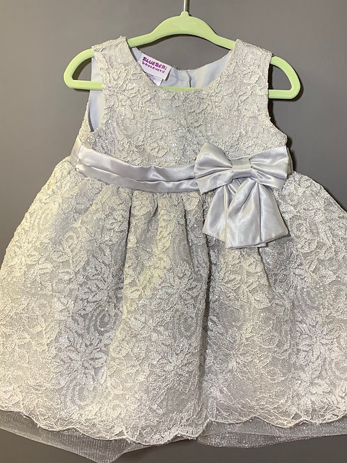 Size 18m BLUEBERI BOULEVARD Silver Party Dress