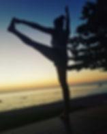 Yoga with Beautiful sunset. Oh YES!! PLE