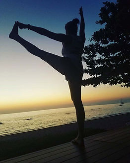 Yoga with Beautiful sunset. Oh YES!! PLE