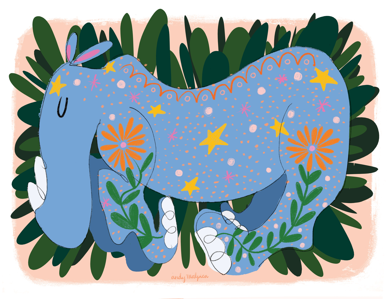 Sueño de un rinoceronte