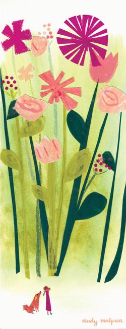 En el bosque de flores