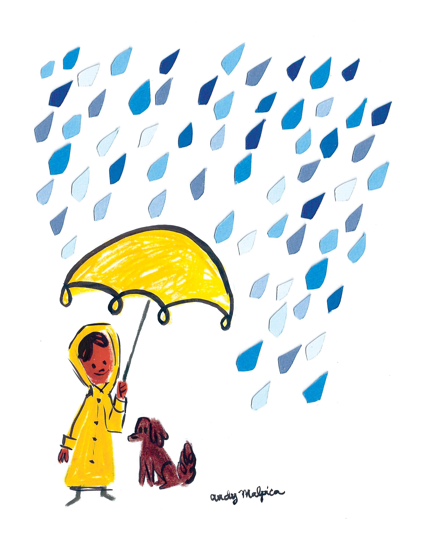 juntos en la lluvia