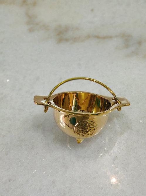 Brass Pentacle cauldron