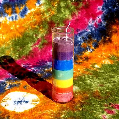 Large Chakra Healing Candle