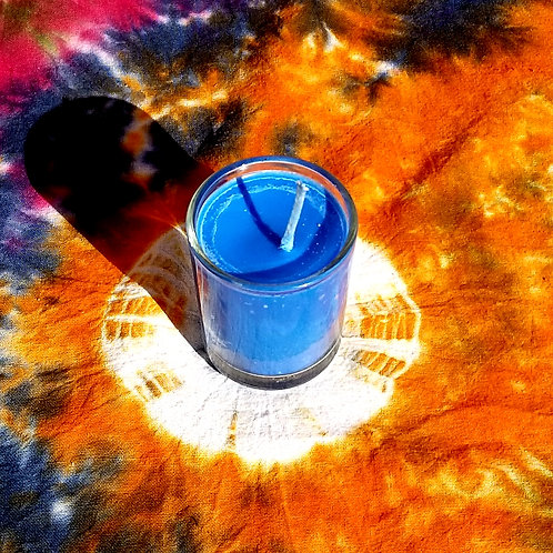 Throat Chakra Healing Candle