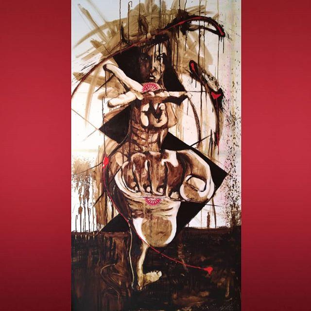 _I'M ALIVE__mixed midia on canvas_75_ X