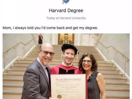 """[Facebook臉書]馬克·扎克伯格終於從哈佛大學""""畢業"""",發表燃情演講"""